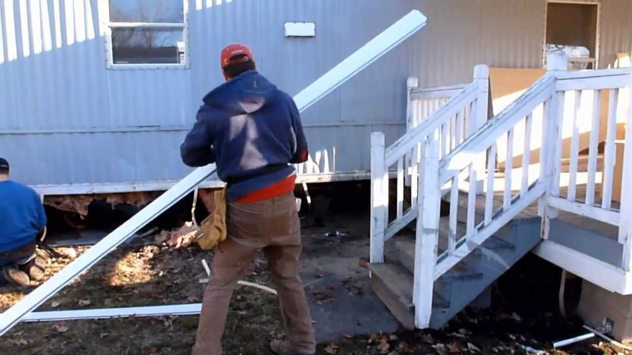 Mobile Home Skirting Mobile Home Aluminum Skirting Install Demo By Frenchy's Skirting - Youtube