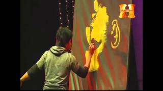 Tribute to MSDhoni_an Upside down painting_Performed by Speed painter Jai Anand