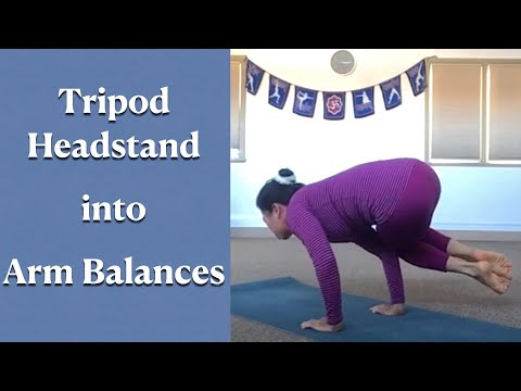 tripod headstand connecting to side arm balance with