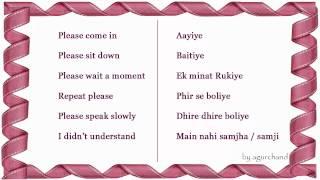 Learn Hindi through English Survival Phrases