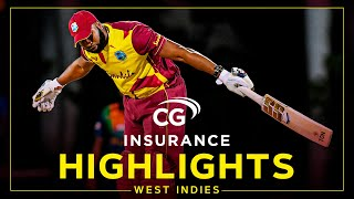 Highlights | West Indies vs Sri Lanka | 6 Sixes in an Over & a Hat Trick! | 1st CG Insurance T20I