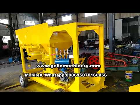 10tph mobile alluvial coltan sand separating plant
