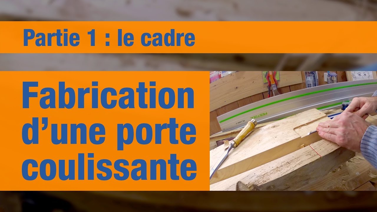 fabrication d 39 une porte coulissante sur mesure partie 1 le cadre youtube. Black Bedroom Furniture Sets. Home Design Ideas