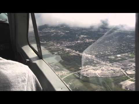 Flying the Cessna 177 Cardinal Into The Clouds After The Storm.  in HD