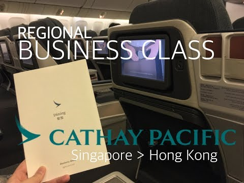 #18 Cathay Pacific | Business Class | CX714 | SINGAPORE-HONG KONG | Flight Review