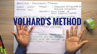 VOLHARD39;S METHOD OF PRECIPITATION TITRATION