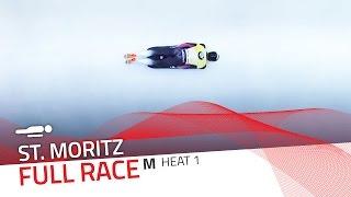 St. Moritz | BMW IBSF World Cup 2015/2016 - Men's Skeleton Heat 1 | IBSF Official