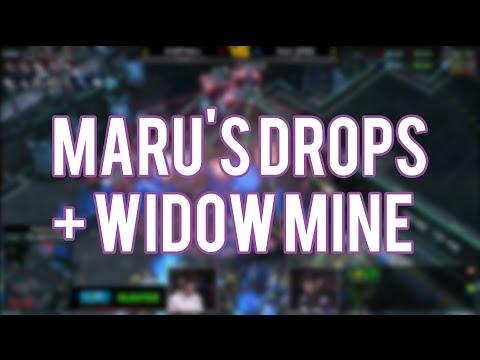 Maru's Drop Harass + Widow Mine Hit Vs Stats