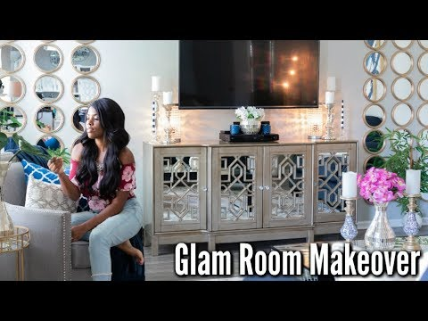 ✨Glam Home✨HOME MAKEOVER PART 4 | GLAM FAMILY ROOM TOUR