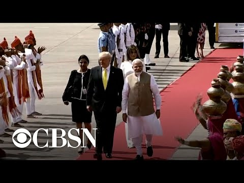 Trump Begins Whirlwind Visit To India