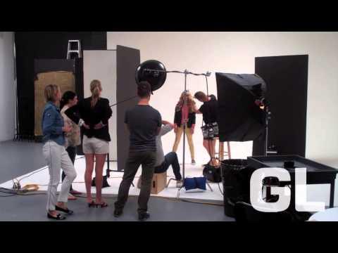 Willow Shields on the set of GL's DecJan '14 cover shoot