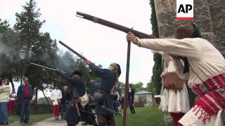 Re-enactment of 16th century battle against the Ottoman empire