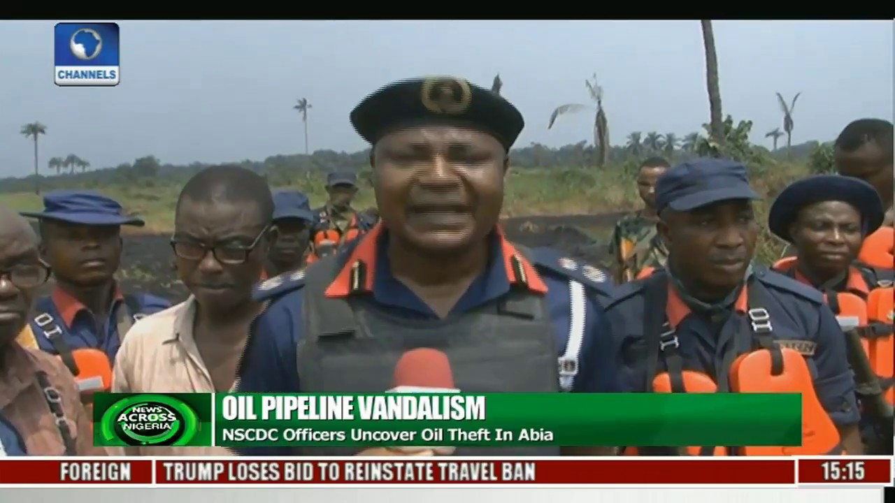 News Across Nigeria: NSCDC Uncovers Oil Theft In Abia State
