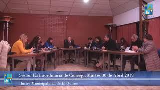 Sesión Extraordinaria de Concejo Martes 30 de Abril 2019 - El Quisco