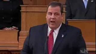 Governor Christie Address Joint Legislature - Pensions and School Aid