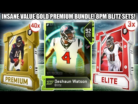 INSANE VALUE BLITZ 40 GOLD PREMIUM PACK BUNDLE!  8PM BLITZ SETS! | MADDEN 19 ULTIMATE TEAM