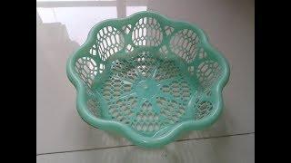 How to make unique rangoli design using small basket||easy rangoli designs for diwali