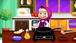 瑪莎和熊 - 寶寶學在廚房做飯和有樂趣