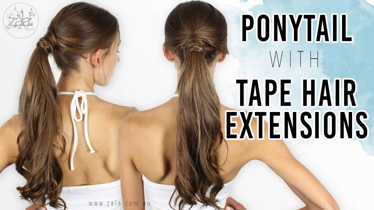 hair styling tape ponytail with hair extensions application amp styling 1329 | maxresdefault