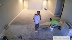 Wood Look Ceramic Tile Flooring Installation - Sunshine Interiors