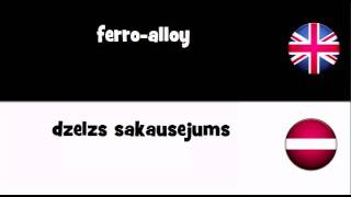 SAY IT IN 20 LANGUAGES = ferro-alloy