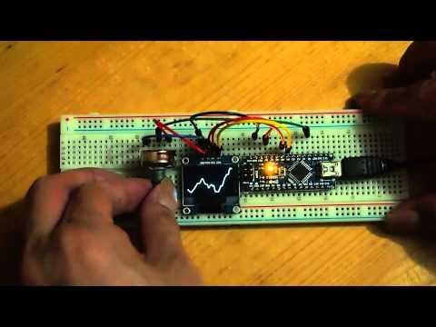 Arduino-er: Display waveform on mini OLED with Arduino Nano