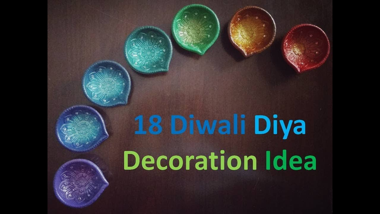 18 diy diwali diya decoration ideas kunal 39 s design 10 for Diya decoration youtube