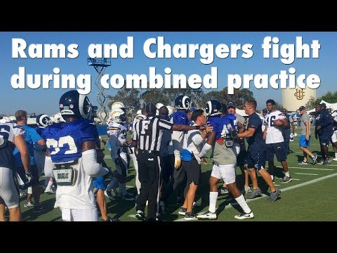 Rams And Chargers Players Fight At Practice | Los Angeles Times
