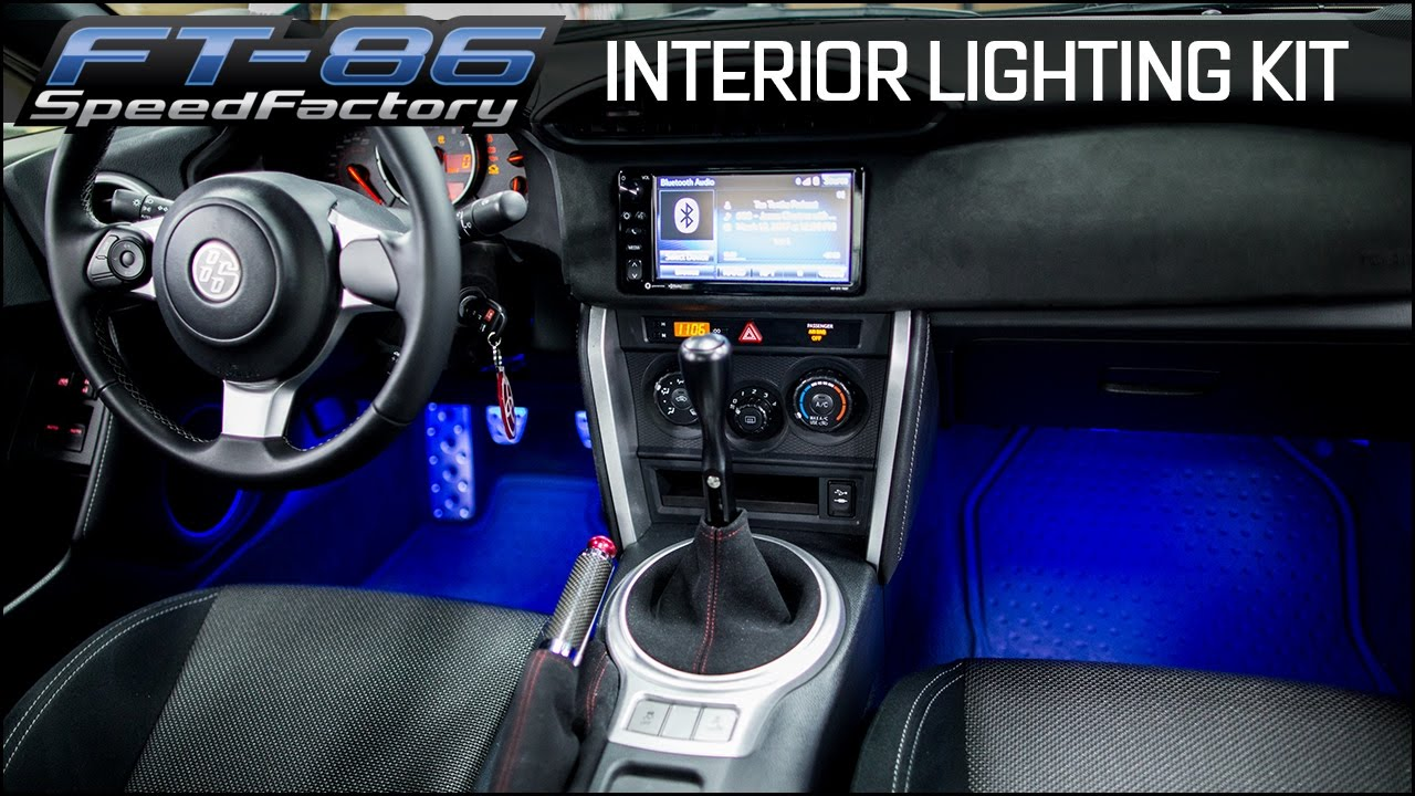 gcs rgb interior footwell lighting kit front rear w bluetooth universal lighting 15 wrx [ 1280 x 720 Pixel ]