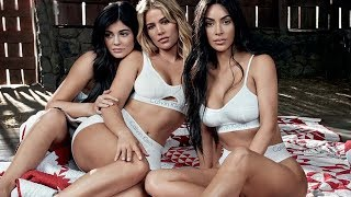 Kylie Jenner Uses Her Sisters to HIDE Her Baby Bump in Calvin Klein Ad