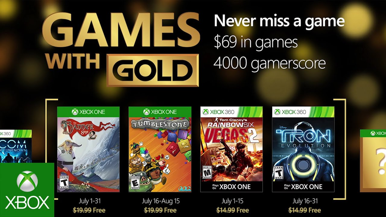 Xbox July With Gold