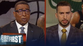 Bucks or Raptors: Who has the edge in this series? - Nick & Cris react | NBA | FIRST THINGS FIRST