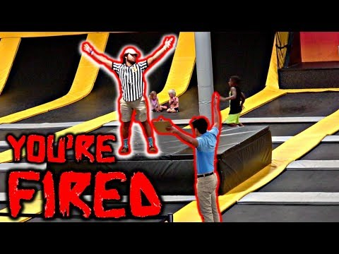 Fake BOSS at TRAMPOLINE PARK PRANK *Firing Workers*