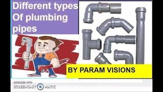 Different types of plumbing pipes/Types of plumbing materials