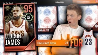 EA SCAMMED ME! 23 PACKS for #23 (95 LEBRON JAMES ROYALTY PACK OPENING) NBA Live Mobile