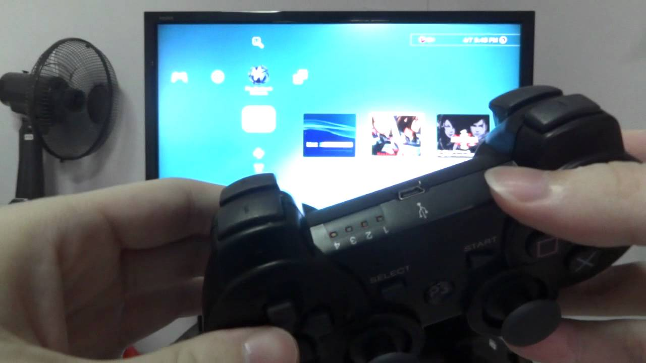 how to sync your ps3 controller for first use on your ps3 [ 1280 x 720 Pixel ]