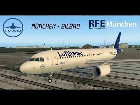 X-Plane 11 | IVAO | München - Bilbao mit Lufthansa | München RFE | A320 [GER | ENG]
