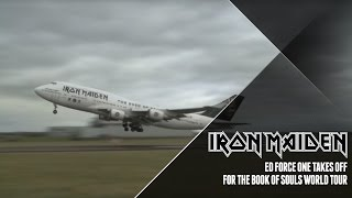 Video Iron Maiden's Ed Force One departs Cardiff download MP3, 3GP, MP4, WEBM, AVI, FLV Agustus 2018