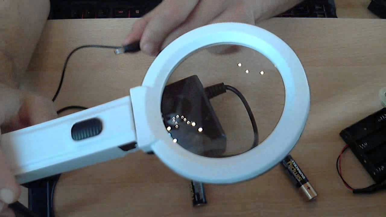 0 LED Lighting Desk Handheld Lamp With 25X 8X Magnifier