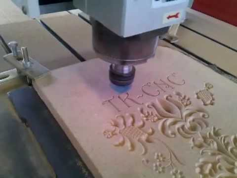 Mdf With 6090 Cnc Router V Bit Work On Wood China Cnc