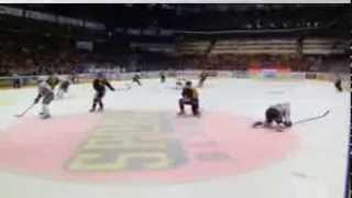 MASSIVE Hockey Hit! Swedish Hockey League - March 20 2014