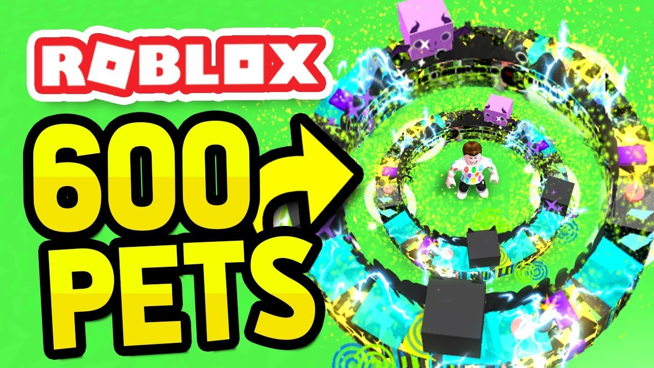 EQUIPPING 600 PETS in ROBLOX PET SIMULATOR