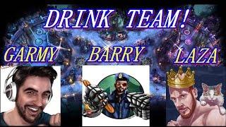BARRY&GARMY&LAZAPLAYS 2 0!! EL DRINK TEAM!! 3 vs 3 LEAGUE OF LEGENDS
