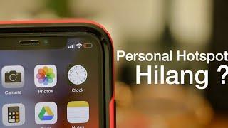 Cara Memunculkan Personal Hotspot iPhone Yang Hilang -  iTechlife