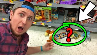 HIDDEN UNDER THE STORE SHELF I FOUND NEW POKEMON CARDS AND MORE!