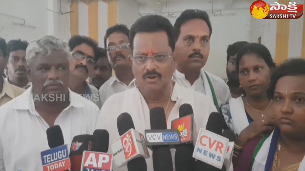 Achanta YSRCP Leader Cherukuvada Ranganadh Raju conducts