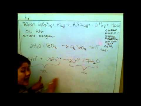 2010 AP Chem Form B TeO2 + Cr2O72- balancing and stoich - YouTube