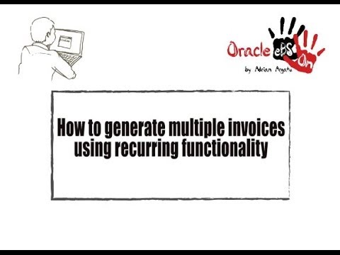 How to use Accounts Payables (AP) invoice recurring