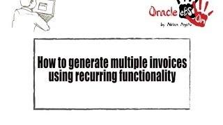 كيفية استخدام حسابات دائنة (AP) فاتورة المتكررة وظائف في شركة أوراكل eBS 12.2.3?