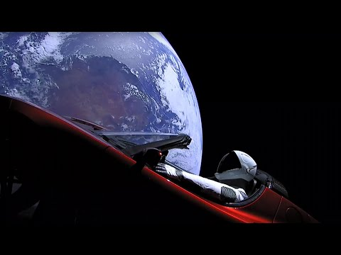 Elon Musk's dummy astronaut orbiting Earth in a Tesla – timelapse video